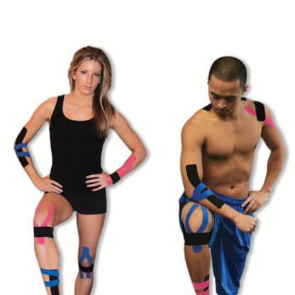 Kinesiology Tape on Man and Woman