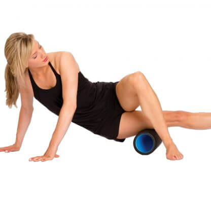 Hollow Core Foam Roller in use