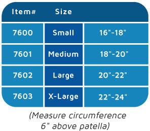3D Flat Thigh Size Chart