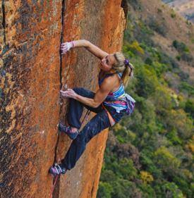 Sasha Climbing